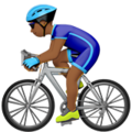 Man Biking: Medium-Dark Skin Tone on Apple iOS 14.5