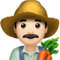 Man Farmer: Light Skin Tone on Apple iOS 14.5