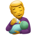 Man Feeding Baby on Apple iOS 14.5