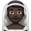 Man with Veil: Dark Skin Tone on Apple iOS 14.5