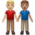 Men Holding Hands: Medium-Light Skin Tone, Medium Skin Tone on Apple iOS 14.5