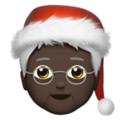 Mx Claus: Dark Skin Tone on Apple iOS 14.5