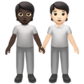 People Holding Hands: Dark Skin Tone, Light Skin Tone on Apple iOS 14.5