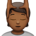 Person Getting Massage: Medium-Dark Skin Tone on Apple iOS 14.5
