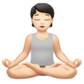 Person in Lotus Position: Light Skin Tone on Apple iOS 14.5