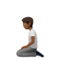 Person Kneeling: Medium-Dark Skin Tone on Apple iOS 14.5
