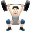 Person Lifting Weights: Light Skin Tone on Apple iOS 14.5