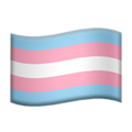 Transgender Flag on Apple iOS 14.5