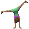 Woman Cartwheeling: Medium-Dark Skin Tone on Apple iOS 14.5