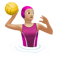 Woman Playing Water Polo: Medium-Light Skin Tone on Apple iOS 14.5