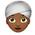 Woman Wearing Turban: Medium-Dark Skin Tone on Apple iOS 14.5
