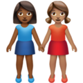 Women Holding Hands: Medium-Dark Skin Tone, Medium Skin Tone on Apple iOS 14.5