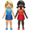 Women Holding Hands: Medium-Light Skin Tone, Dark Skin Tone on Apple iOS 14.5