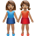 Women Holding Hands: Medium Skin Tone on Apple iOS 14.5