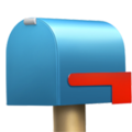 Closed Mailbox with Lowered Flag on Apple iOS 14.6
