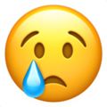 Crying Face on Apple iOS 14.6