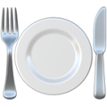 Fork and Knife with Plate on Apple iOS 14.6