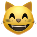 Grinning Cat with Smiling Eyes on Apple iOS 14.6