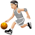 Person Bouncing Ball: Light Skin Tone on Apple iOS 14.6