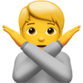 Person Gesturing No on Apple iOS 14.6