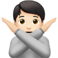 Person Gesturing No: Light Skin Tone on Apple iOS 14.6