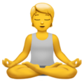 Person in Lotus Position on Apple iOS 14.6