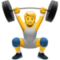 Person Lifting Weights on Apple iOS 14.6