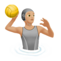 Person Playing Water Polo: Medium-Light Skin Tone on Apple iOS 14.6