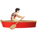 Person Rowing Boat: Light Skin Tone on Apple iOS 14.6