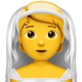 Person With Veil on Apple iOS 14.6