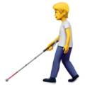 Person with White Cane on Apple iOS 14.6