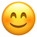 Smiling Face with Smiling Eyes on Apple iOS 14.6