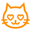 Smiling Cat Face With Heart-Eyes on au by KDDI Type F