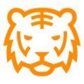 Tiger Face on au by KDDI Type F