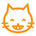 Grinning Cat with Smiling Eyes on Docomo 2013