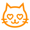 Smiling Cat Face With Heart-Eyes on Docomo 2013