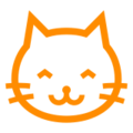 Grinning Cat Face on Docomo 2013