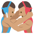 Wrestlers, Type-4 on JoyPixels 2.2.5