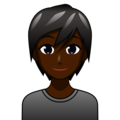 Person: Dark Skin Tone on emojidex 1.0.34