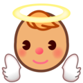 Baby Angel: Medium Skin Tone on emojidex 1.0.34