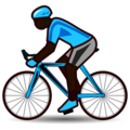 Person Biking: Dark Skin Tone on emojidex 1.0.34