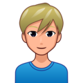 Man: Medium-Light Skin Tone, Blond Hair on emojidex 1.0.34