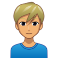 Man: Medium Skin Tone, Blond Hair on emojidex 1.0.34