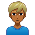 Man: Medium-Dark Skin Tone, Blond Hair on emojidex 1.0.34