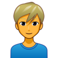 Man: Blond Hair on emojidex 1.0.34