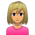 Woman: Medium Skin Tone, Blond Hair on emojidex 1.0.34