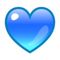 Blue Heart on emojidex 1.0.34