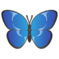 Butterfly on emojidex 1.0.34