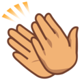 Clapping Hands: Medium Skin Tone on emojidex 1.0.34