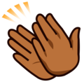 Clapping Hands: Medium-Dark Skin Tone on emojidex 1.0.34